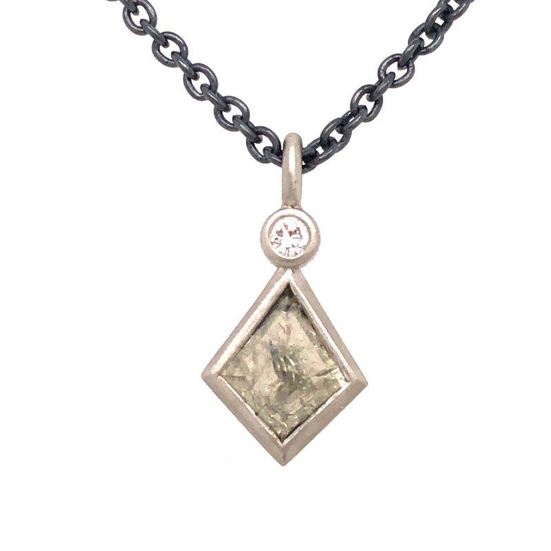 Cline Custom Salt and Pepper Diamond Pendant