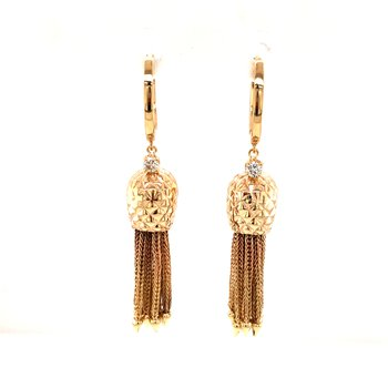 Cline Custom 14k Yellow Gold Pineapple Earrings