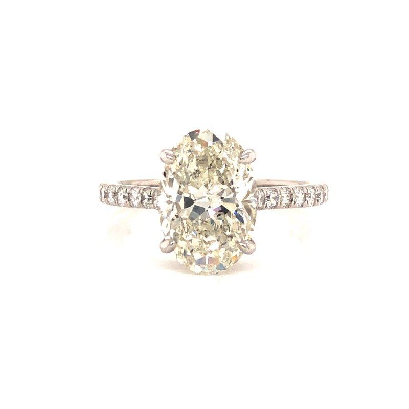 Cline Custom 3 Carat Oval Engagement Ring