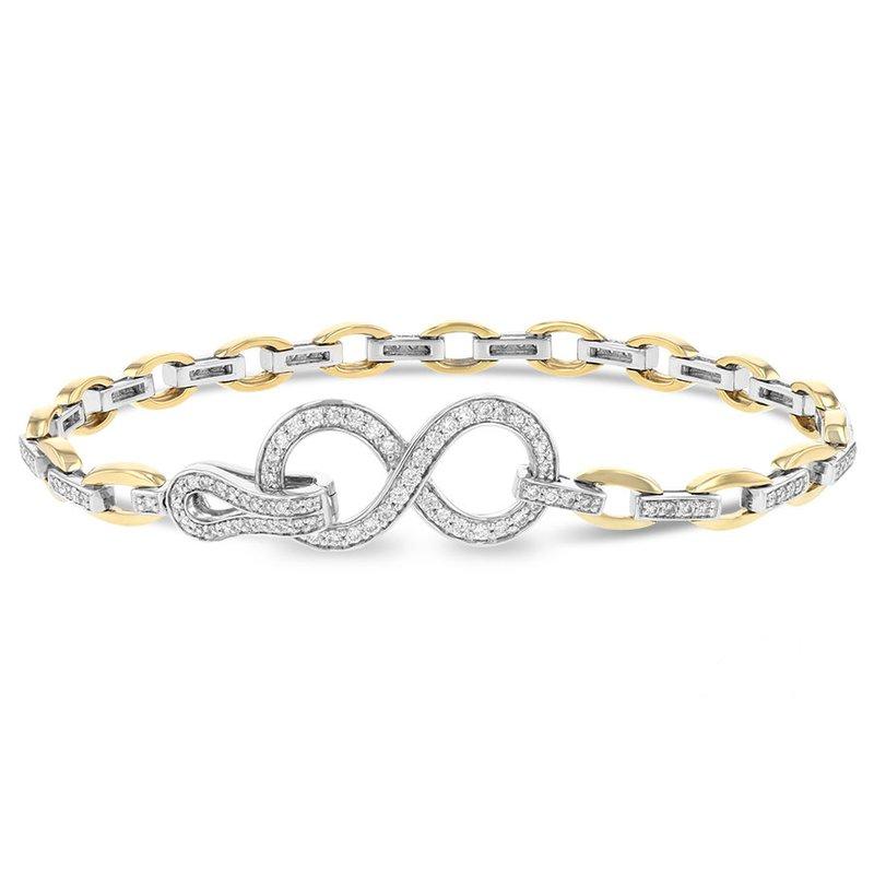 Cline 14k two-tone diamond bracelet