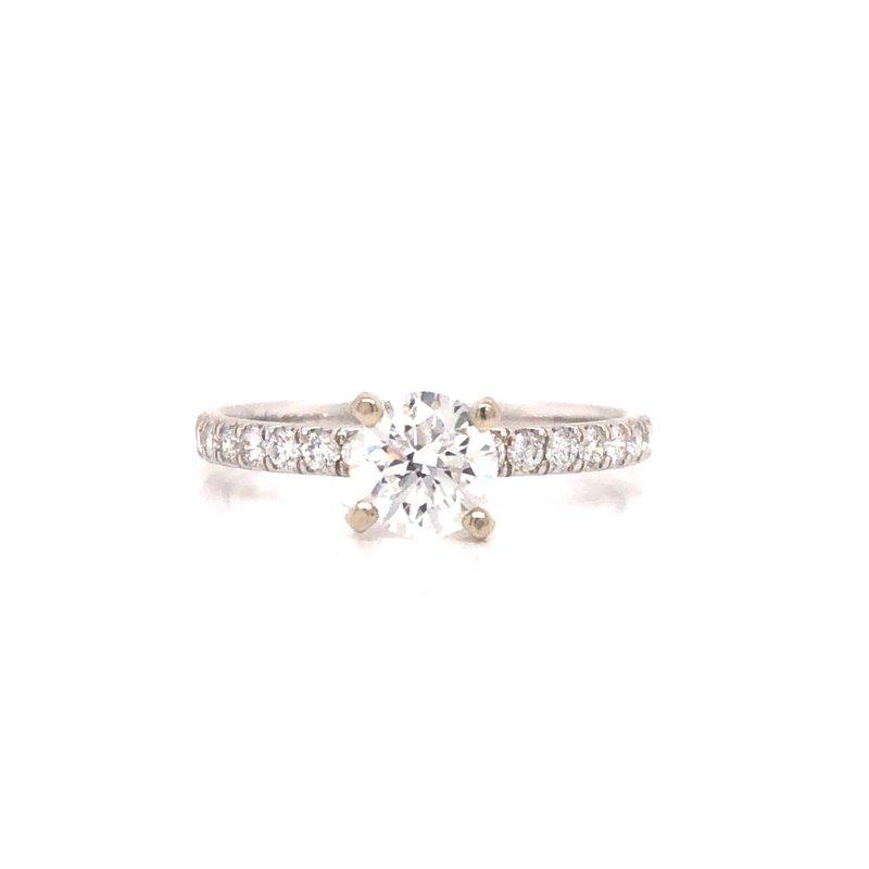 Cline Custom Round Brilliant Diamond Ring