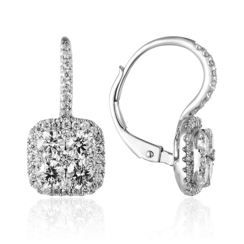 Cline 14k White Gold Diamond Earrings