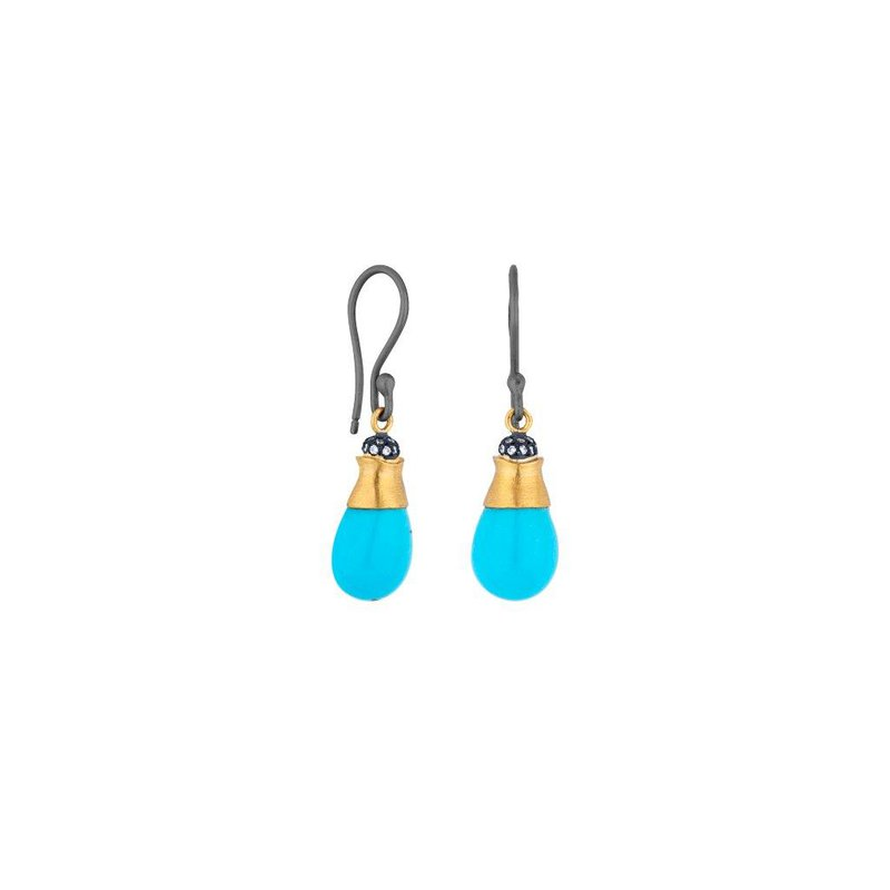 Cline Turquoise and Diamond Earrings
