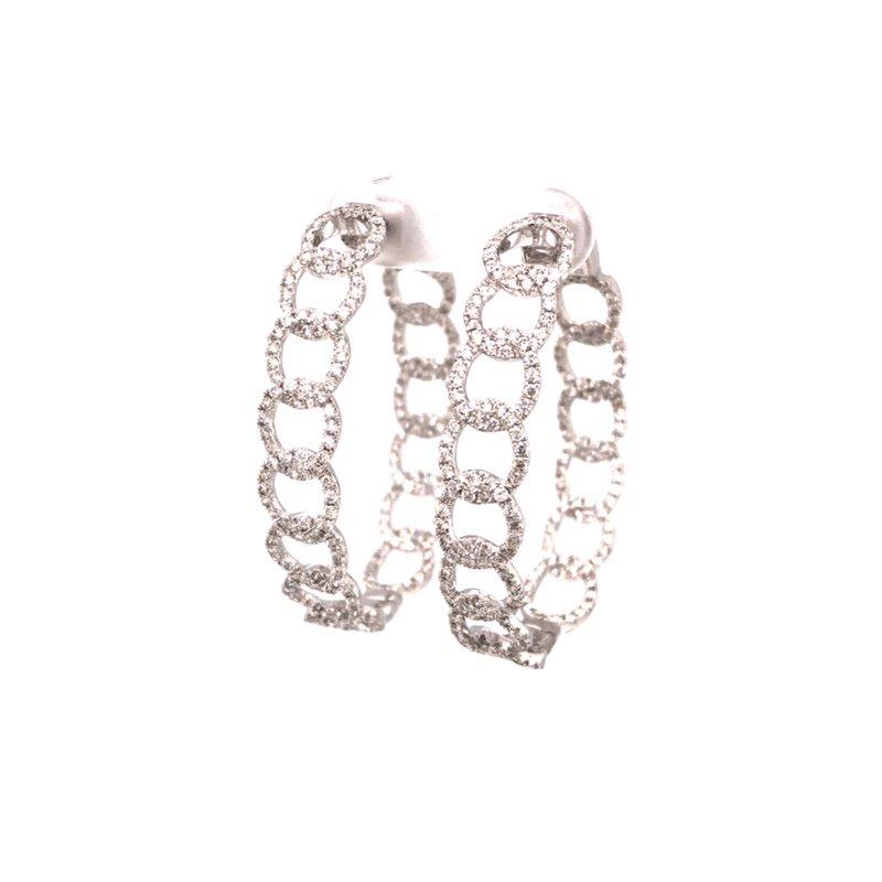 Cline Diamond Chain Link Hoop Earrings