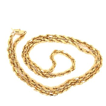 Estate 14k Yellow Gold Heavy Rope Chain