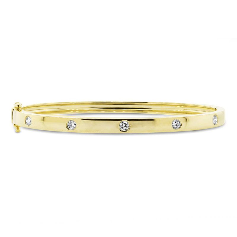 Cline 14k Yellow Gold Diamond Bangle