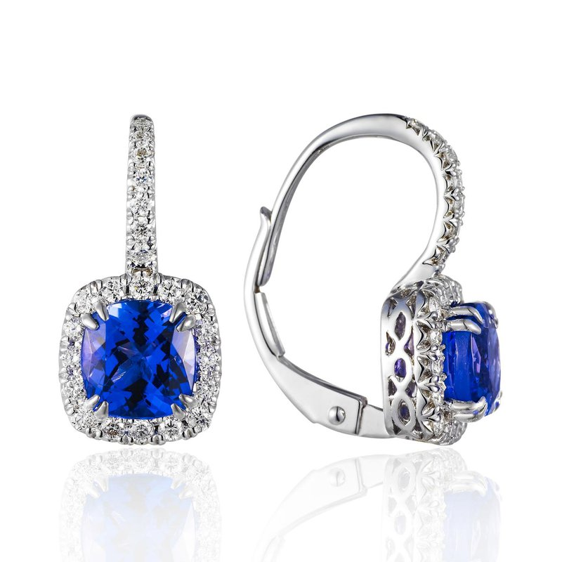 Cline Tanzanite and Diamond Earrings