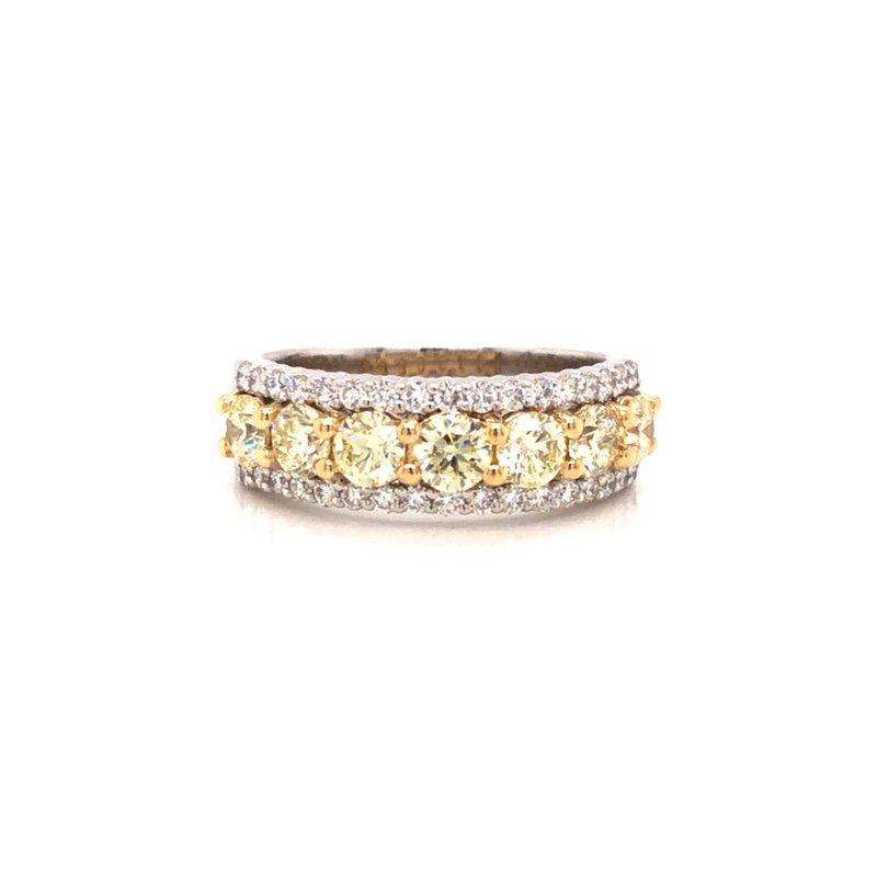Cline 14 Karat White & Yellow Gold Diamond Ring