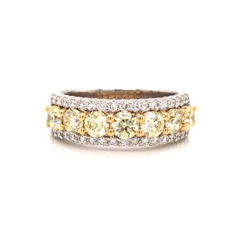14 Karat White & Yellow Gold Diamond Ring