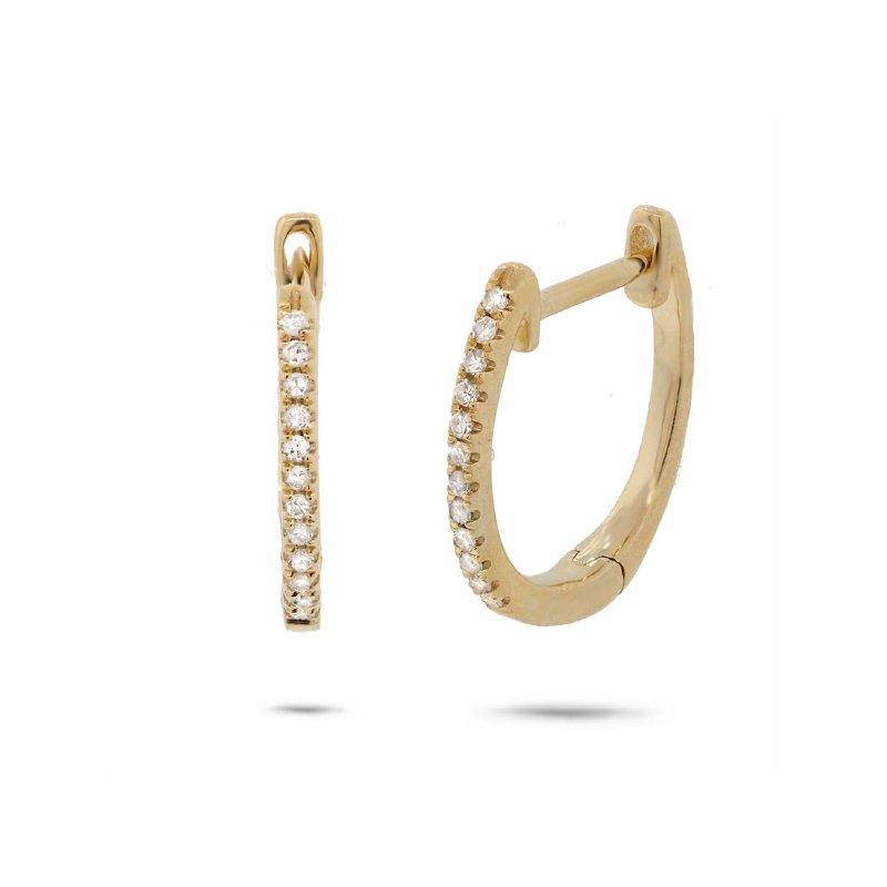 Cline Diamond Huggie Earrings