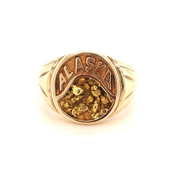 Estate 10k Yellow Gold Signet Style Ring