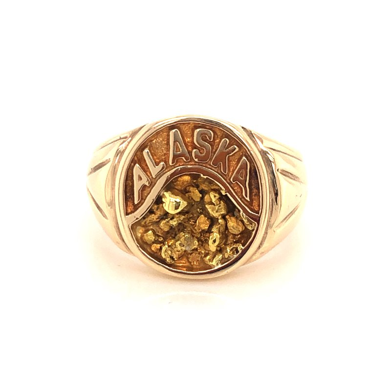 Cline Estate 10k Yellow Gold Signet Style Ring