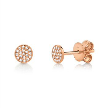 Rose Gold Pave Diamonds Earrings