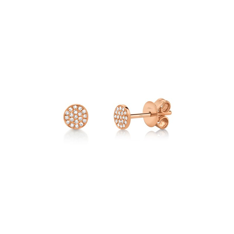 Cline Rose Gold Pave Diamonds Earrings