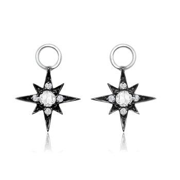 Rose Cut Diamond Earring Charms