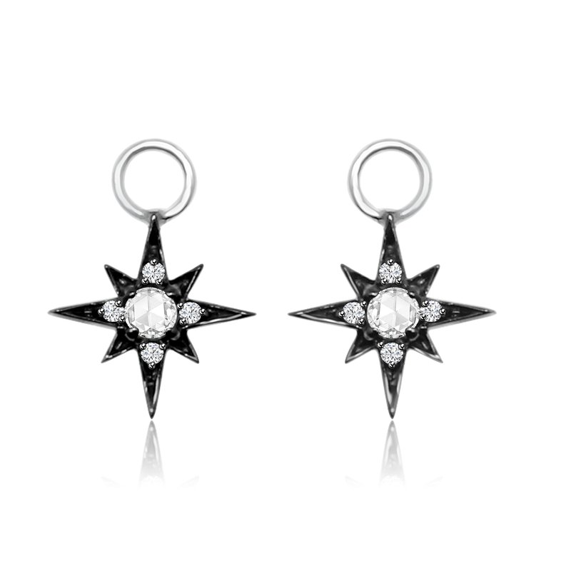 Cline Rose Cut Diamond Earring Charms