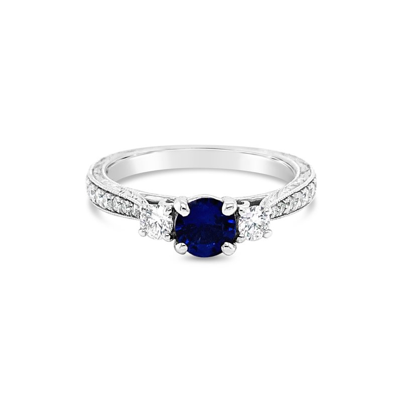 Cline Sapphire and Diamond 3-Stone Ring