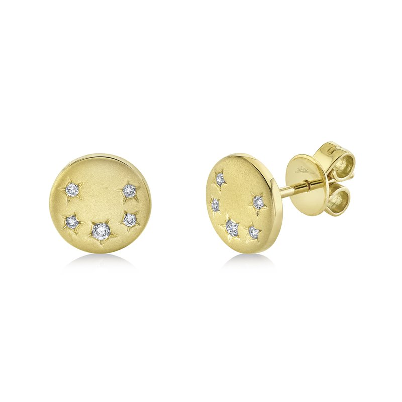 Cline Diamond Star Disc Earrings