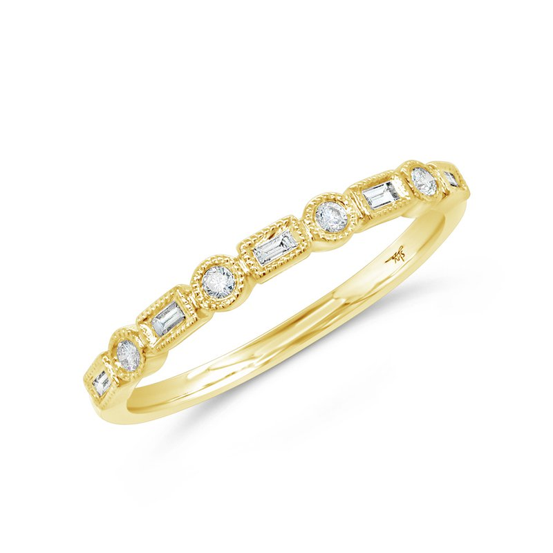 Cline Baguette and Round Diamond Band