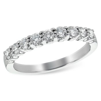 14k White Gold Diamond Band (0.50ctw)