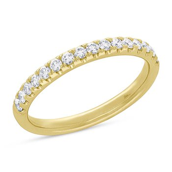 Yellow Gold and Diamond Band