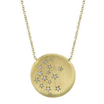 Diamond Star Disc Necklace