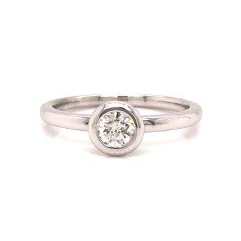 Bezel Set Round Brilliant Cut Diamond Ring
