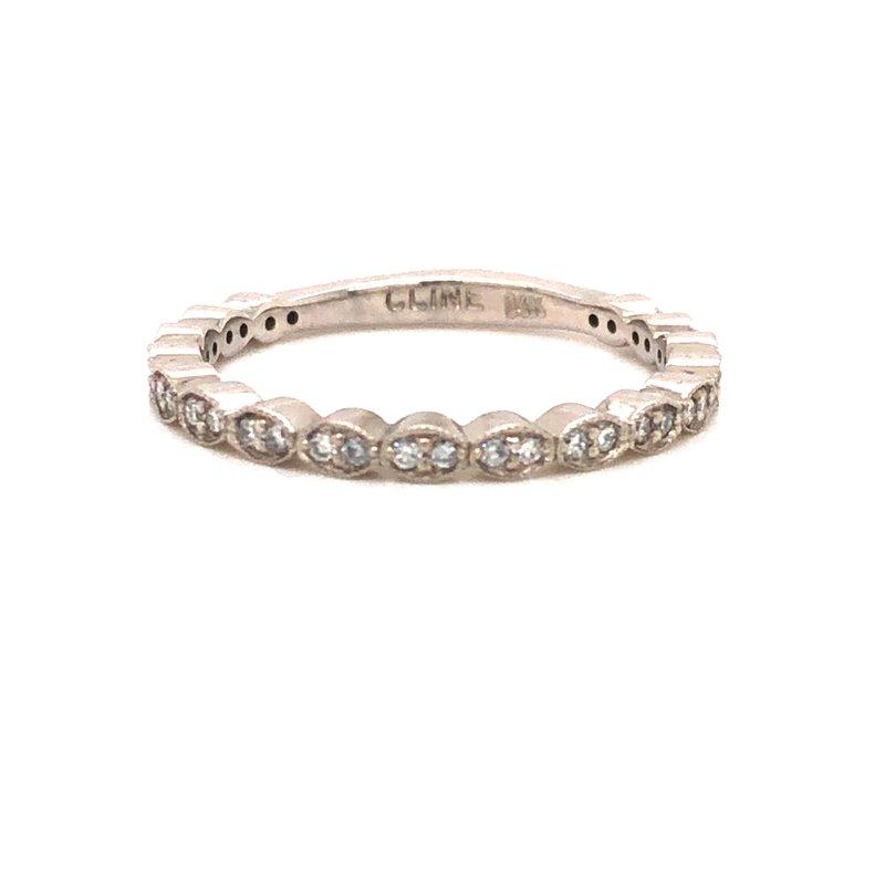 Cline Custom 14k White Gold Diamond Band