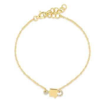 Diamond Lock and Key Bracelet