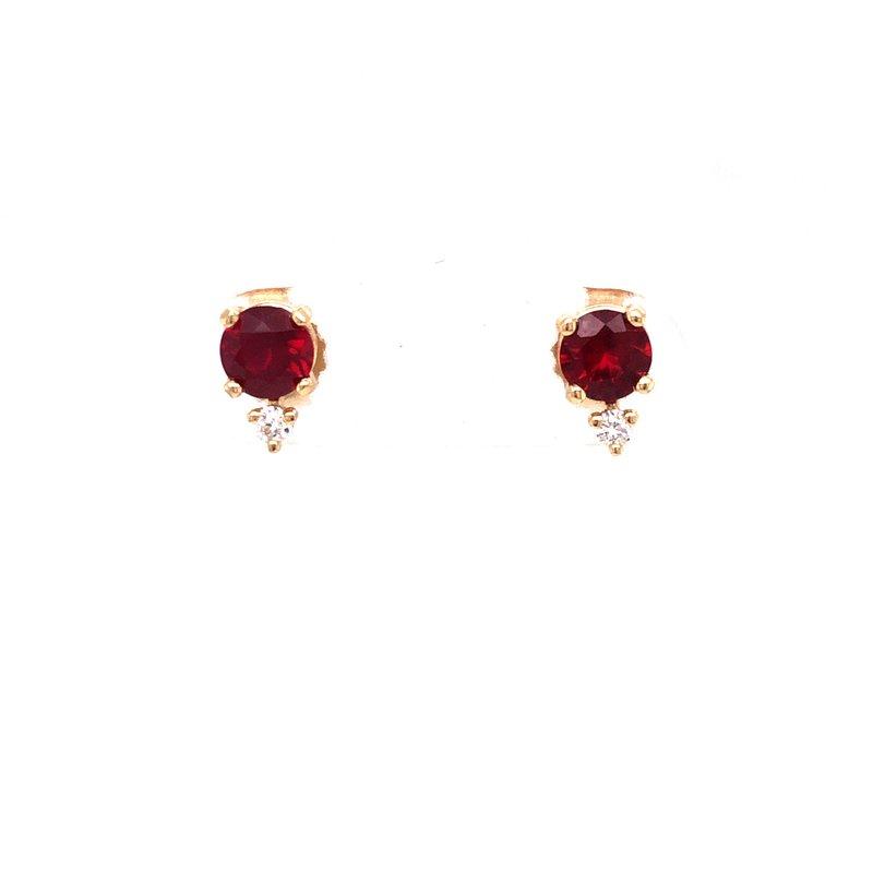 Cline Custom Ruby and Diamond Earrings