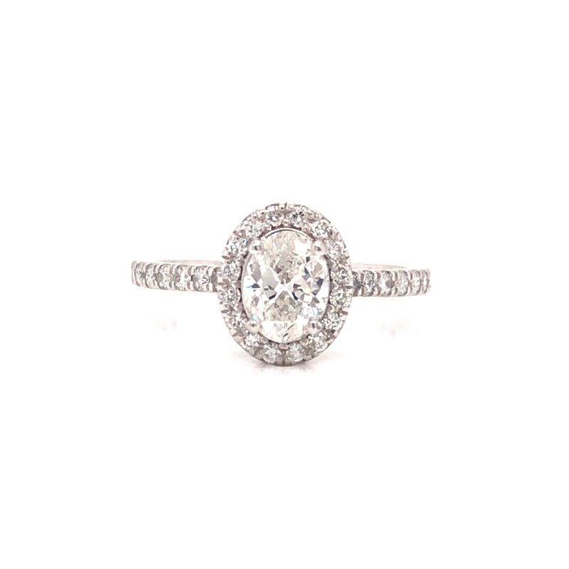 Cline Custom Oval Cut Diamond Halo