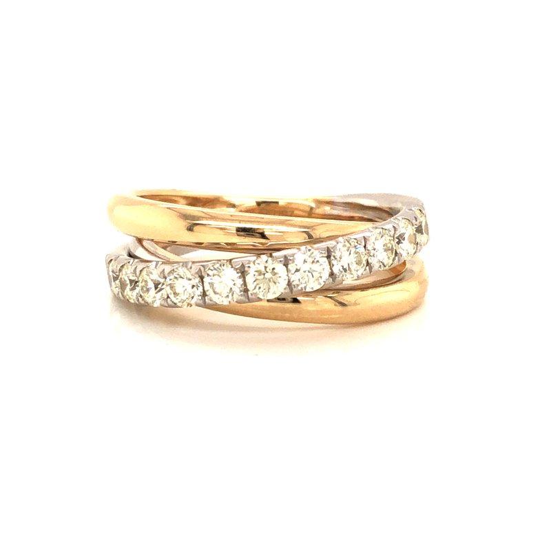 Cline Two-Tone Diamond Ring