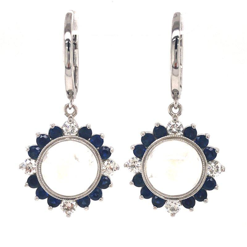 Cline Custom Moonstone Dangle Earrings