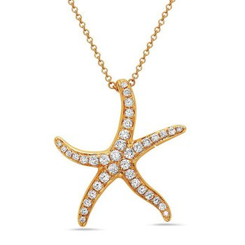 Diamond Sea Star Necklace