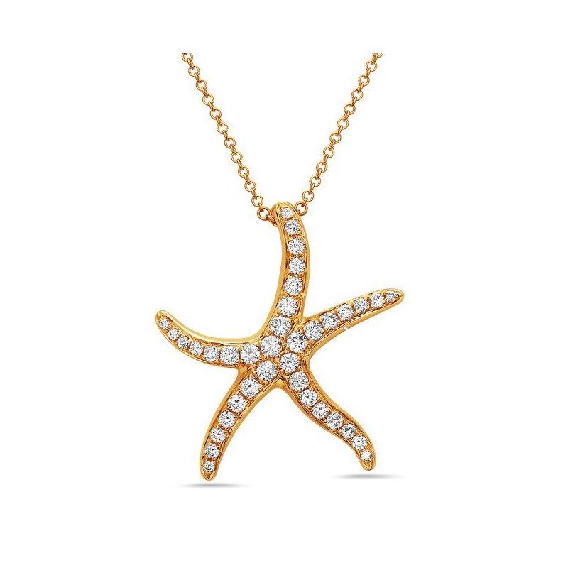 Cline Diamond Sea Star Necklace
