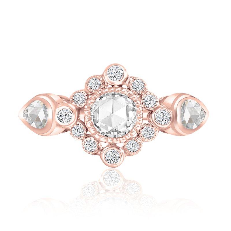 Cline 18k Rose Gold Diamond Ring