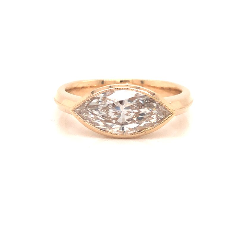 Cline Custom Marquise Solitaire Ring