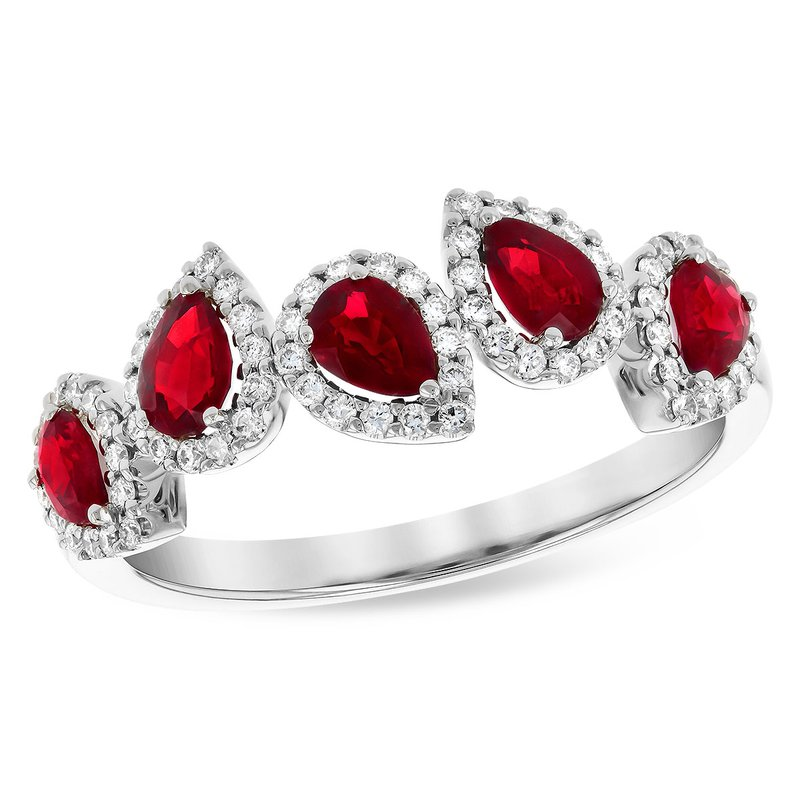 Cline Ruby and Diamond Ring