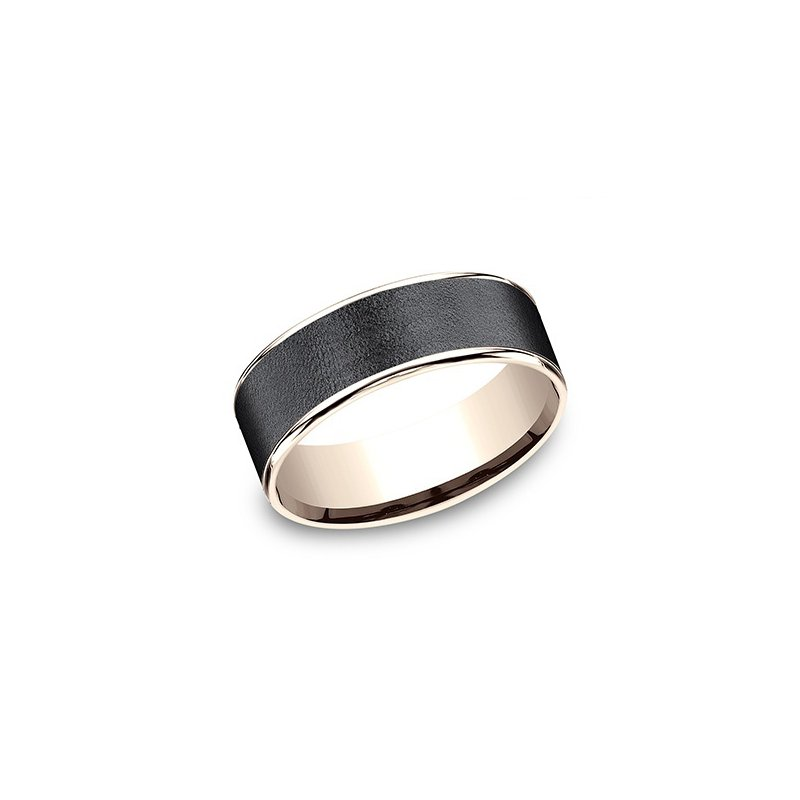 Cline 14k Rose Gold and Tantalum Band