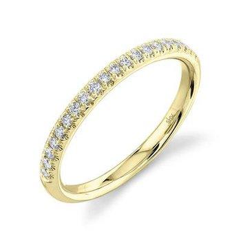 14k Yellow Gold Diamond Band (0.18ctw)