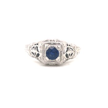 Estate Sapphire Solitaire Ring