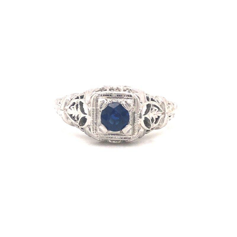 Cline Estate Sapphire Solitaire Ring