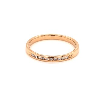 Estate 14k Yellow Gold Diamond Band