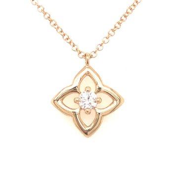 Floral Inspired Diamond Pendant