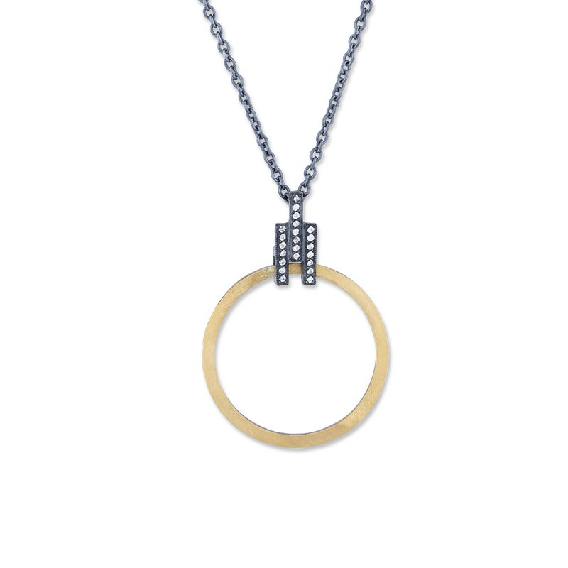 Cline 24k Fusion Gold and Oxidized Silver Pendant