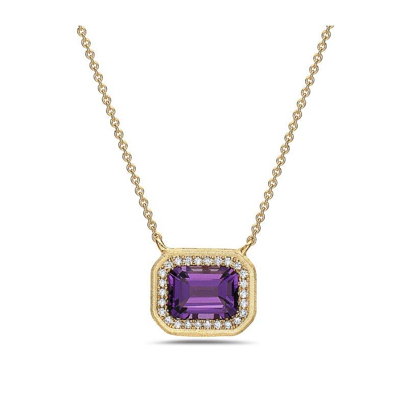 Cline Amethyst and Diamond Pendant
