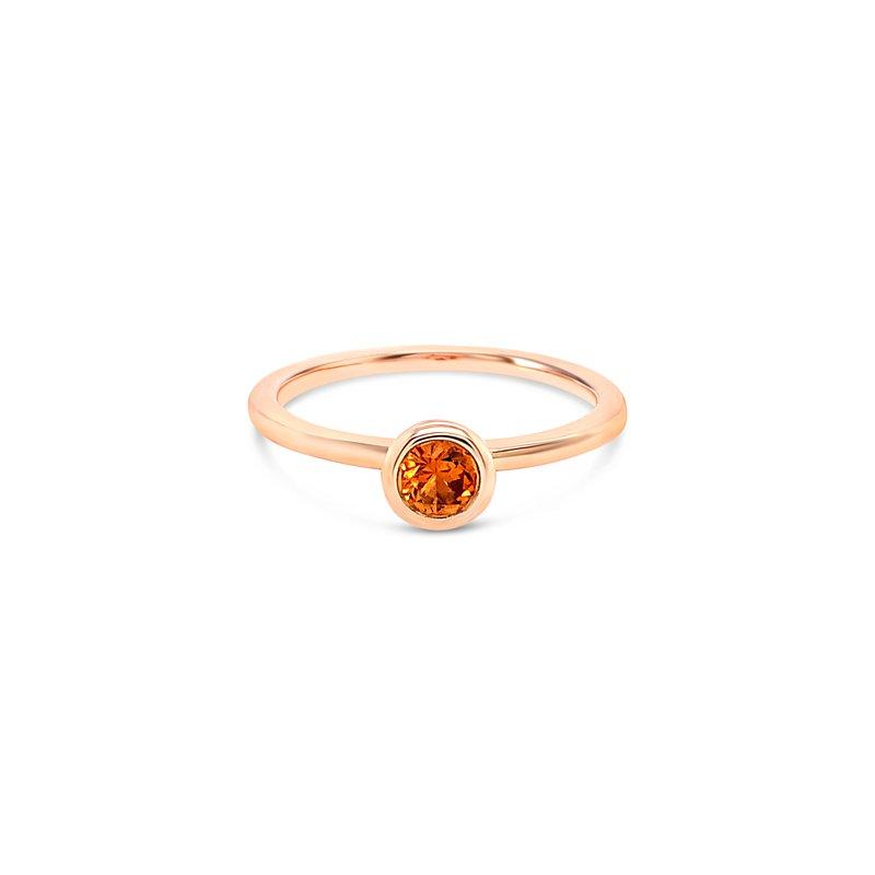 Cline Custom Orange Montana Sapphire Ring