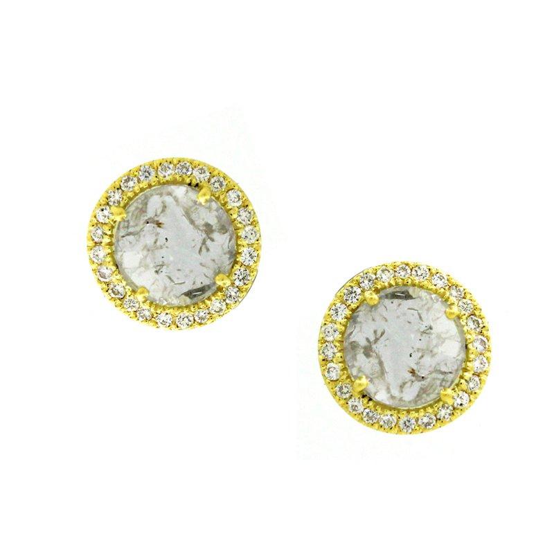 Cline Sliced Diamond Earrings