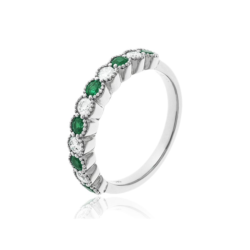Cline Emerald and Diamond Ring