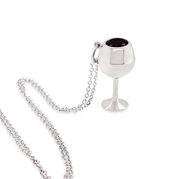 White Gold Cabernet Wine Glass